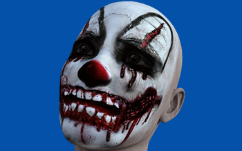 Clown Masks like this are available nationwide for as little as a five dollars