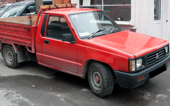 They used an old, beat-up Ute, just like this